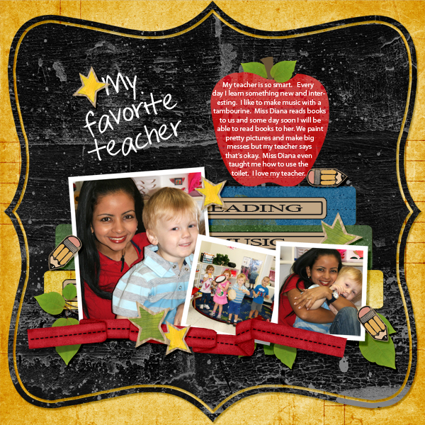 Digital scrapbook layout<br />by Joyce Schardt