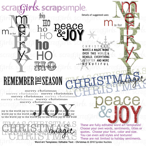 "<a href=""http://store.scrapgirls.com/product/21320/"">ScrapSimple Word Art Templates: Editable Text - Christmas</a>"