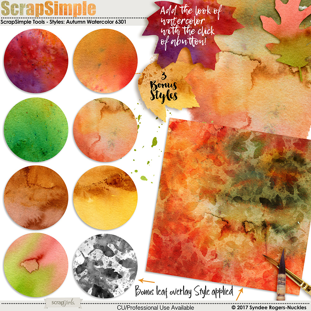 Autumn Watercolor Layer Styles
