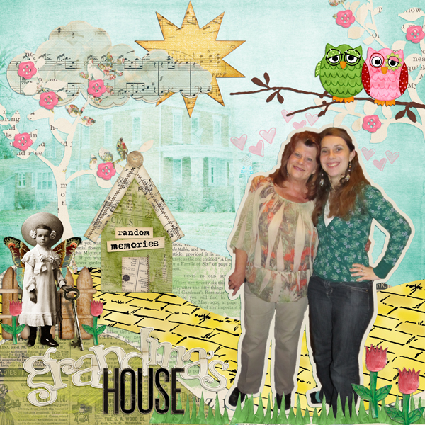 Digital scrapbook layout by Elisha Barnett (See supply list below)