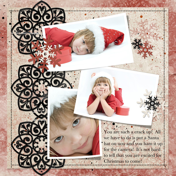 Digital scrapbook layout by Syndee (See supply list below)