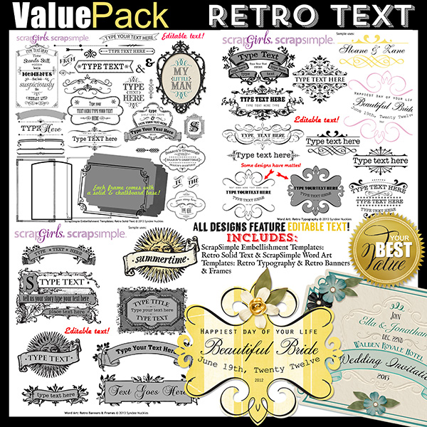 Value Pack: Retro Text - Commercial License