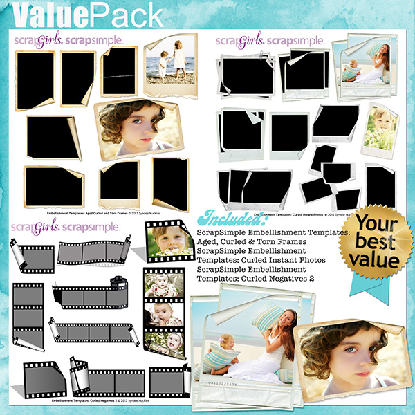 Value Pack: Curled Frames and Negatives