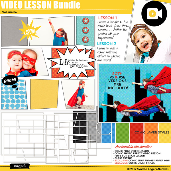 Comic Book Video Lesson Bundle 06
