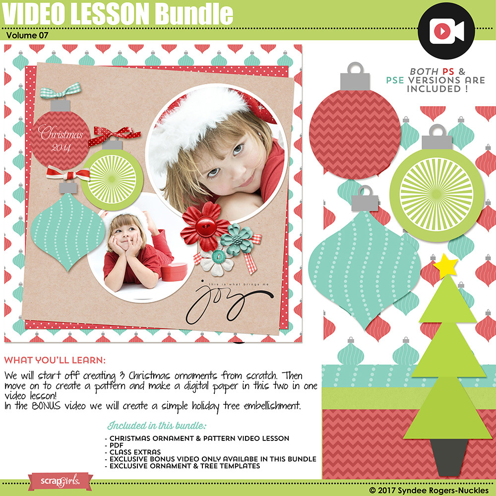 Christmas Ornament Video Lesson Bundle 07