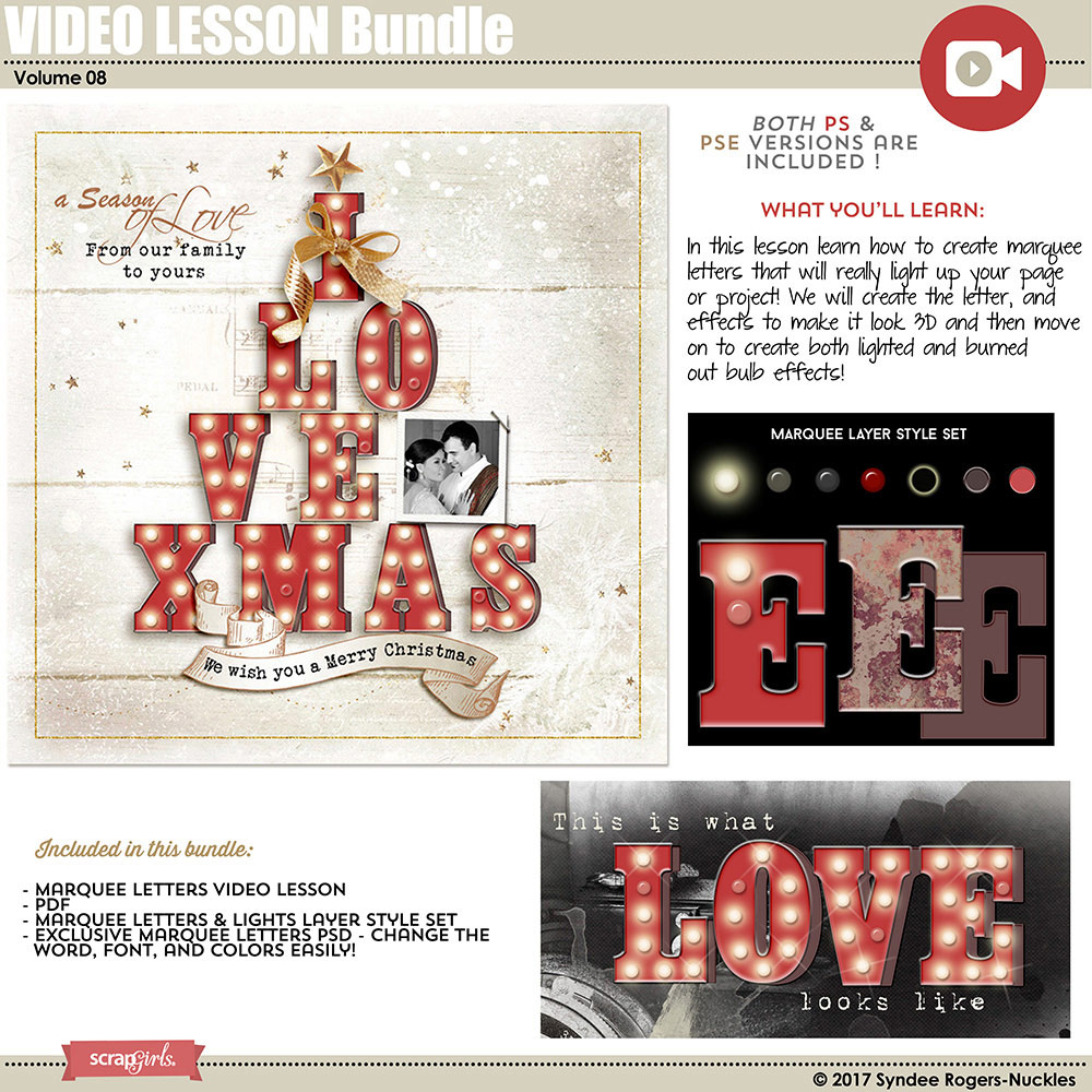 Marquee Letter Video Lesson Bundle 08
