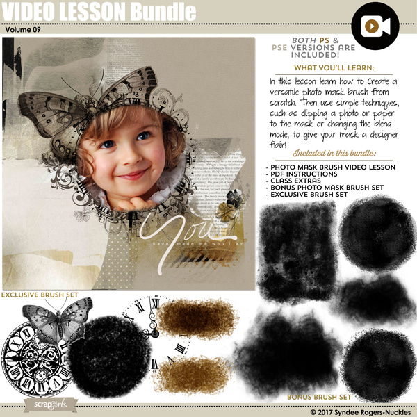 Photo Mask Brush Video Lesson Bundle 09