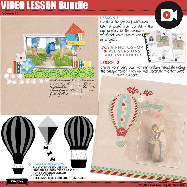 Kite and Hot Air Balloon Video Lesson Bundle