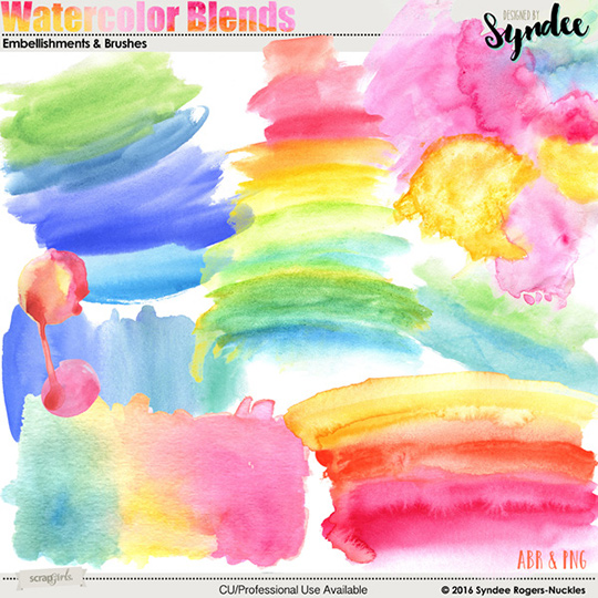 Watercolor Blends Brushes and Templates