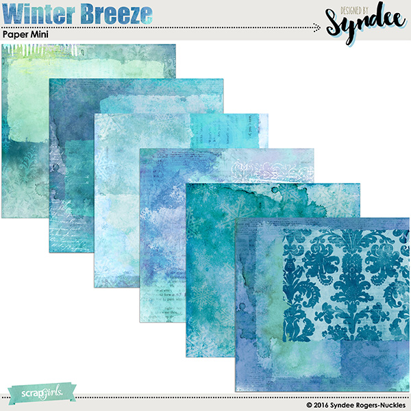 Winter Breeze Digital paper set