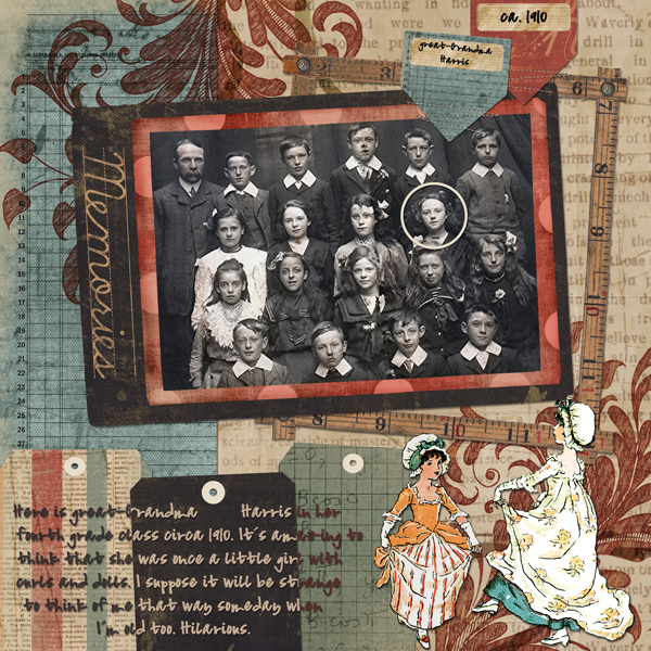 Layout by Laurel Lakey uses Yesterday's Child Collection, and Scrap Simple Digital Layout Templates: Tagged