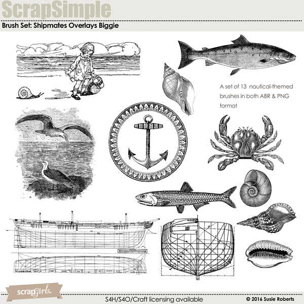 Brush Set Biggie: Shipmates Overlays