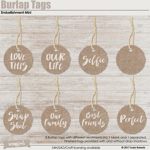 Burlap Tags Embellishment Mini Prev