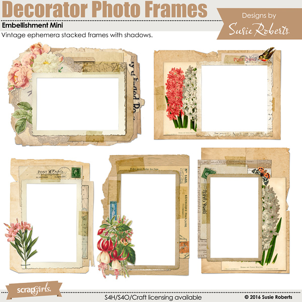 Decorator Photo Frames Embellishment Mini Prev