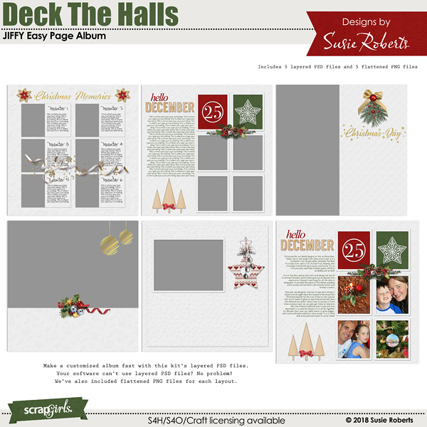 Jiffy Easy Page Album: Deck The Halls