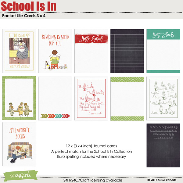 School Is In Pocket Life Cards 3 x 4 Preview