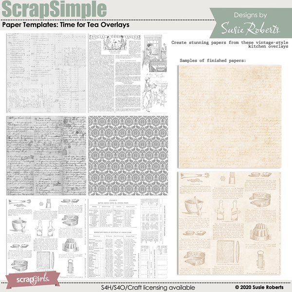 SSPaper Templates: Time For Tea Overlays Preview