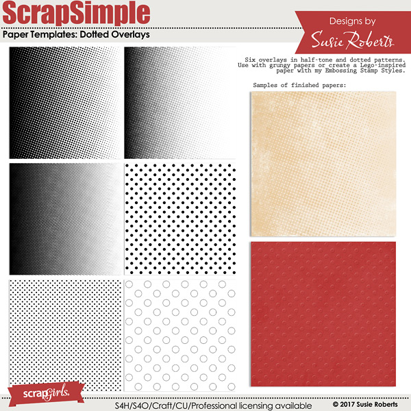 ScrapSimple Paper Templates: Dotted Overlays