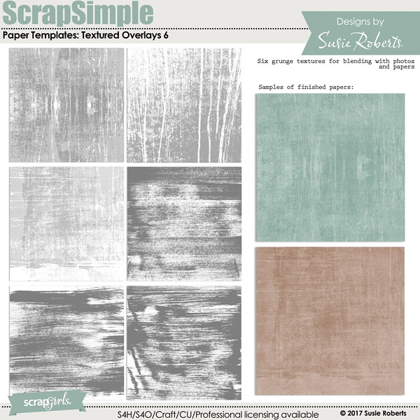 ScrapSimple Paper Templates: Textured Overlays 6