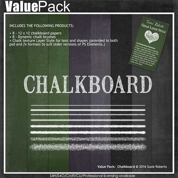 Chalkboard Value Pack Preview