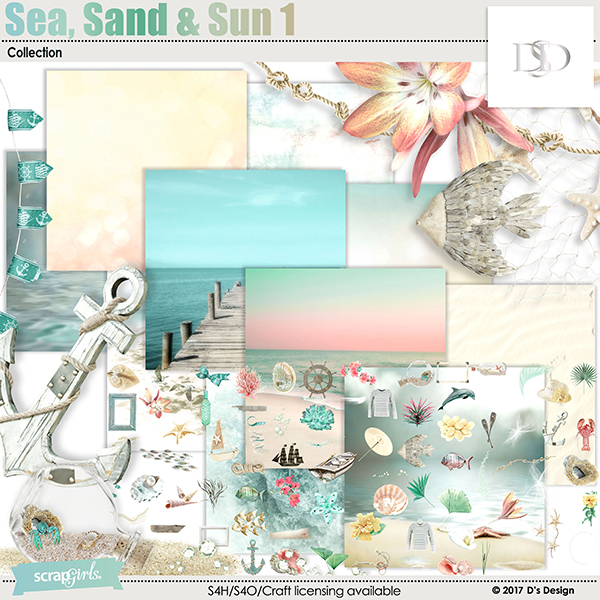 sea, sand & sun 1 collection by d's design
