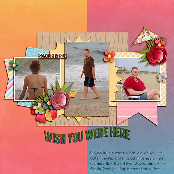 Scrapsimple digital layout templates farewell summer layout by shauna using farewell summer by dagis temp tations pronofoot35fo Image collections