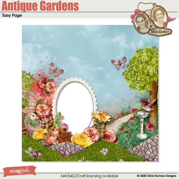 Antique Gardens Easy Page by Silvia Romeo