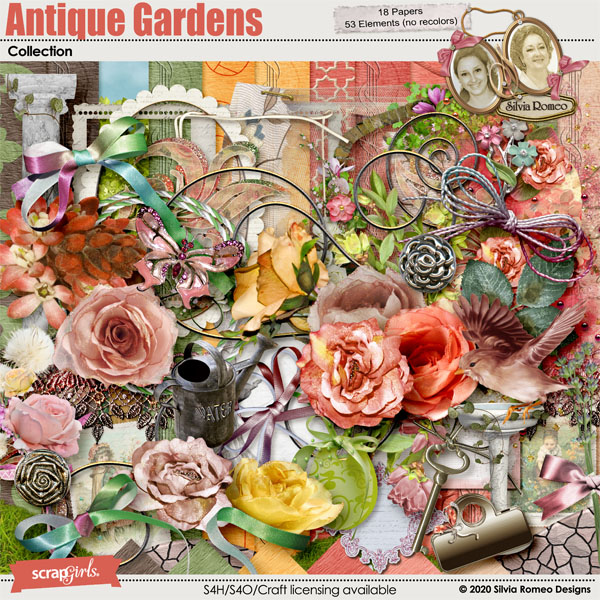Antique Gardens Collection by Silvia Romeo