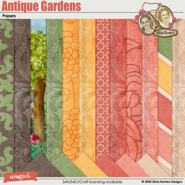 Antique Gardens Papers by Silvia Romeo