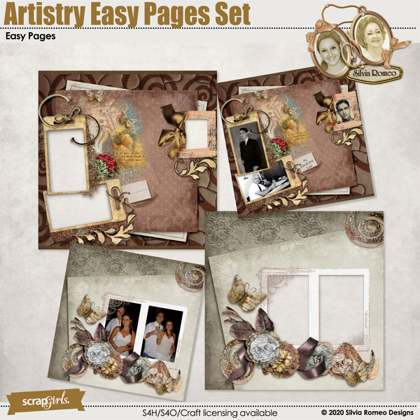 Artistry Easy Pages Set by Silvia Romeo