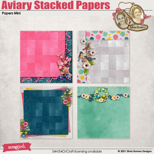 Aviary Stacked Papers by Silvia Romeo