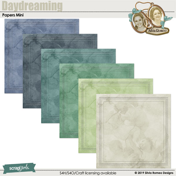 Daydreaming Embossed Papers by Silvia Romeo
