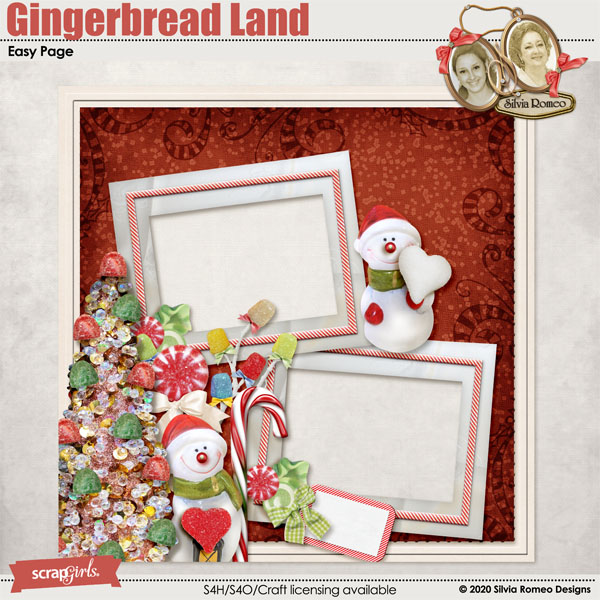 Gingerbread Land Easy Page by Silvia Romeo