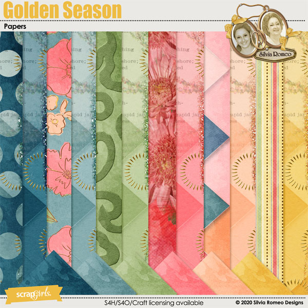 Golden Season Papers by Silvia Romeo
