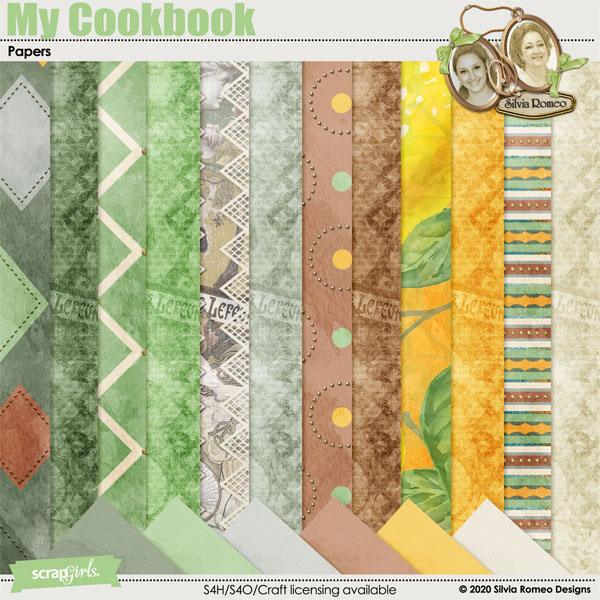 My Cookbook Papers by Silvia Romeo