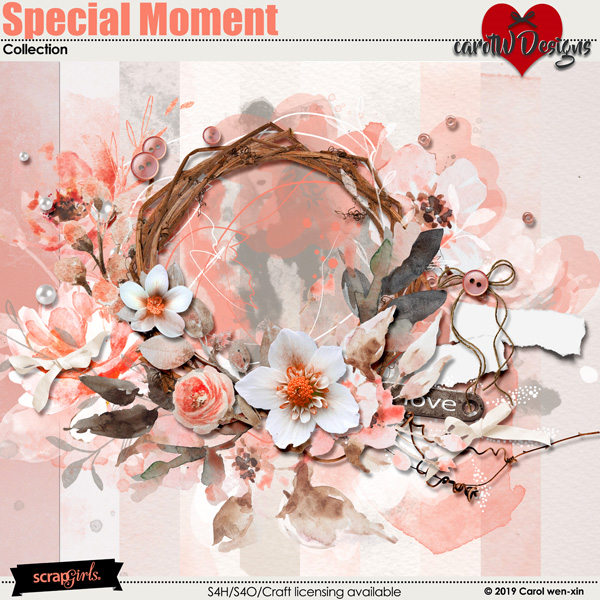 ScrapSimple Digital Layout Collection:Special Moment