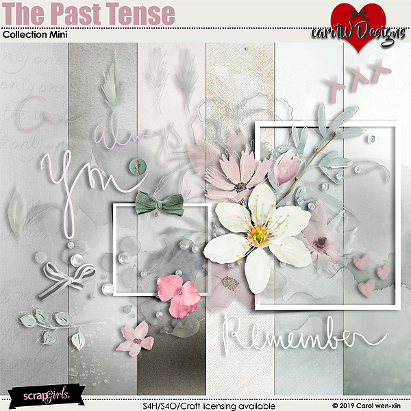 ScrapSimple Digital Layout Collection:The Past Tense