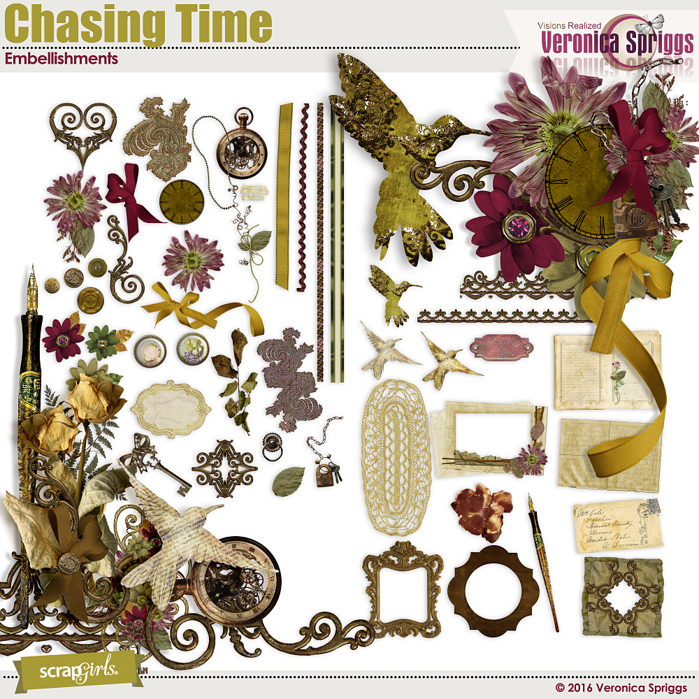 Chasing Time Embellishments