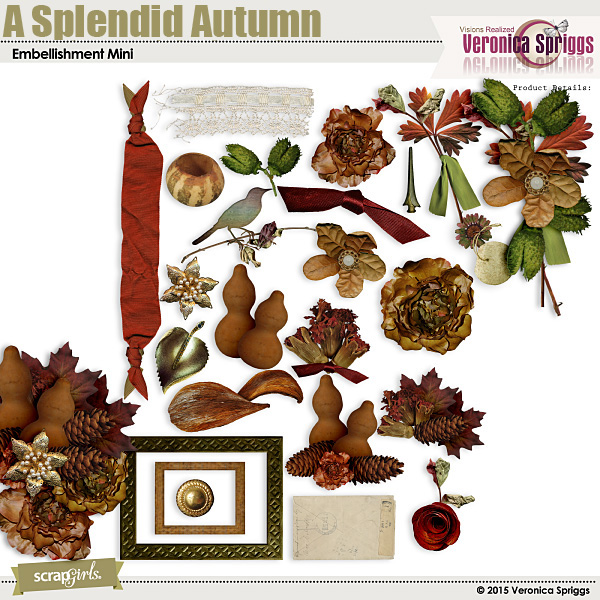 A Splendid Autumn Embellishment Mini