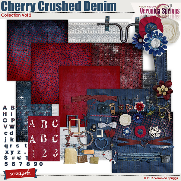 Cherry Crushed Denim Collection