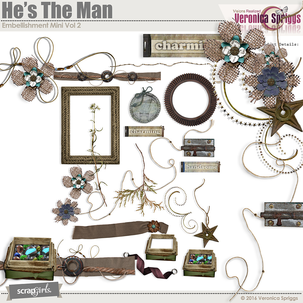 He's The Man Embellishment Mini Vol 2