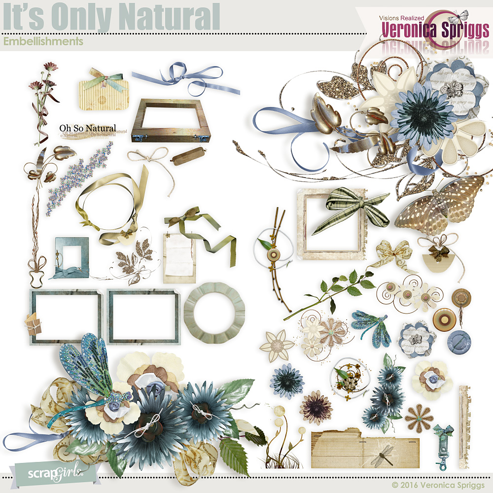 Its Only Natural Embellishments