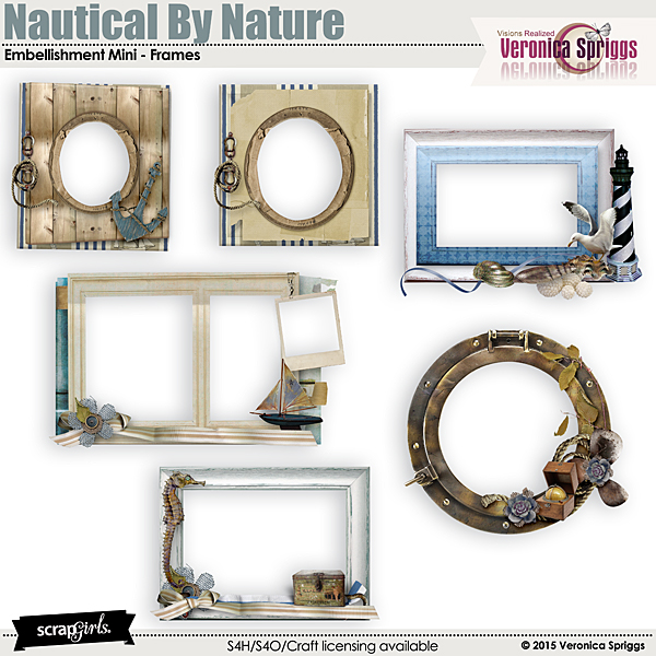 nautical by nature embellishments frames - Nautical Frames