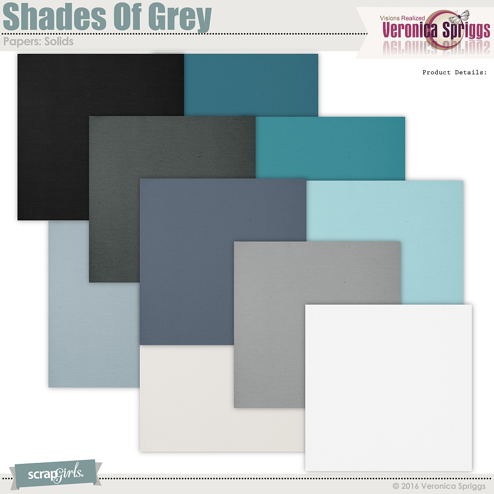 Shades Of Grey Solid Papers
