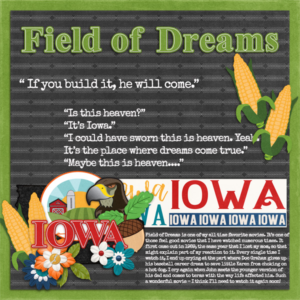 Travelogue: Iowa by Connie Prince - CT Layout