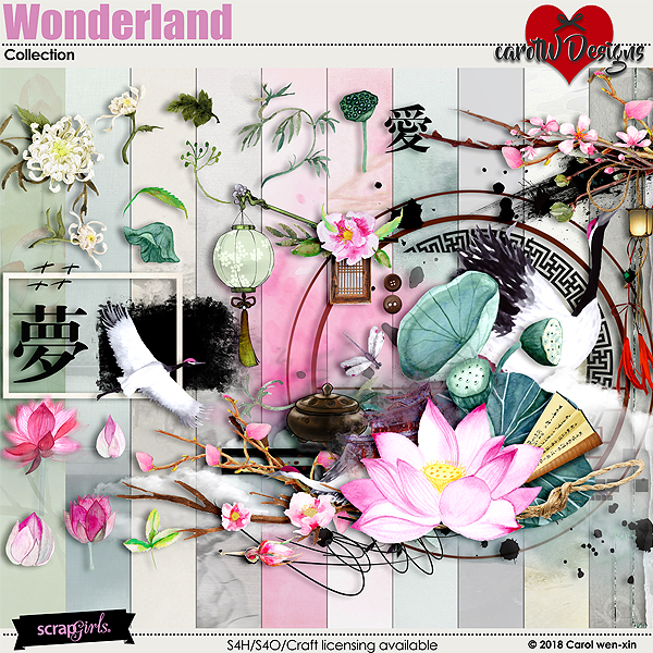 ScrapSimple Digital Layout Collection:Wonderland