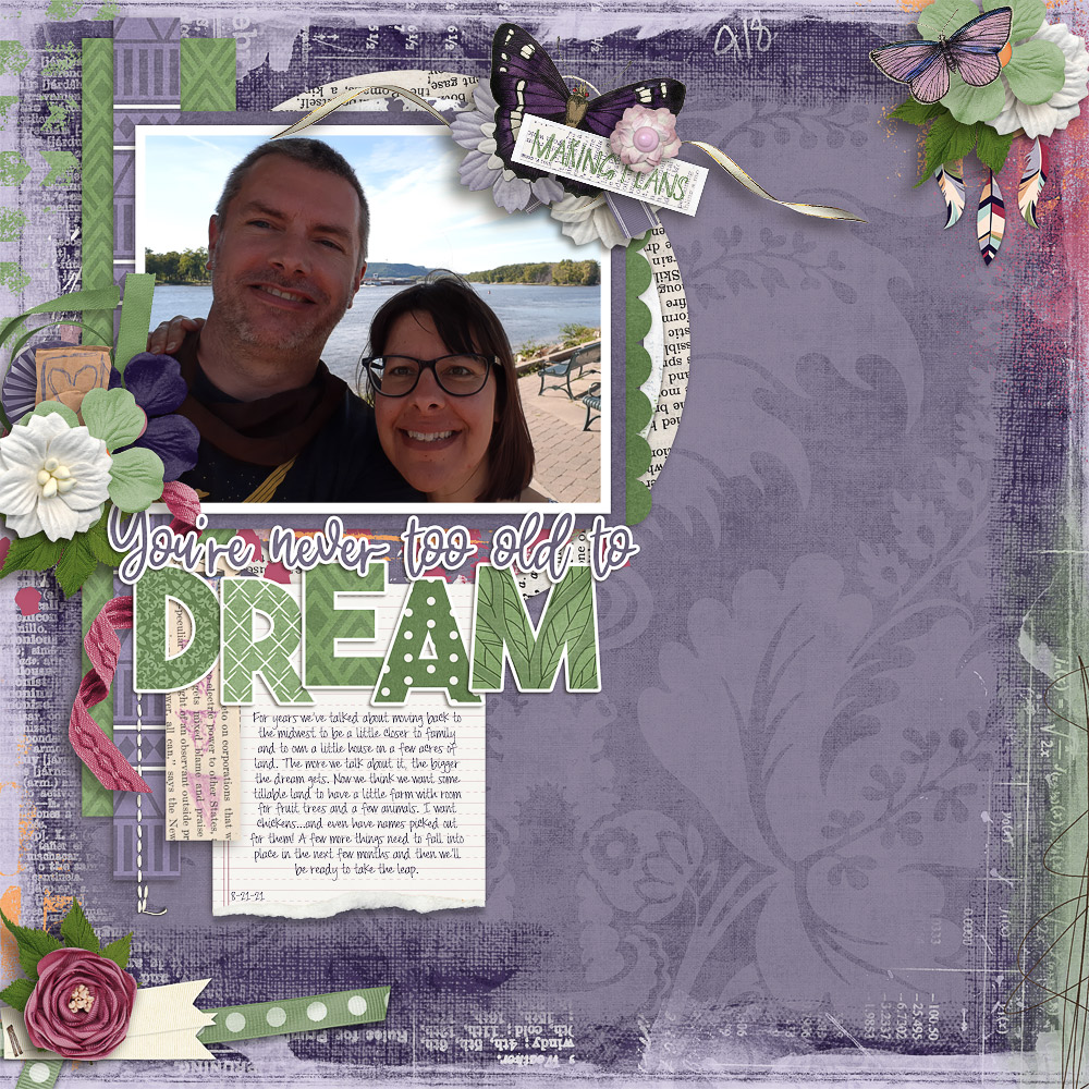 CT Layout using Life Chronicled: Dreams by Connie Prince