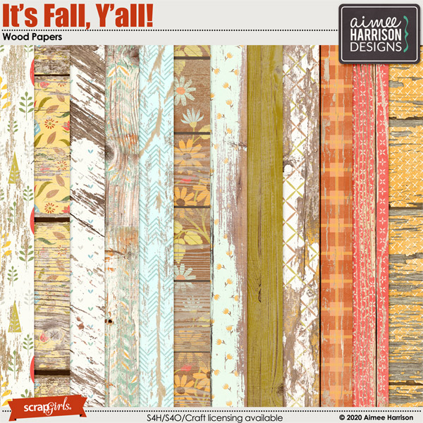 It's Fall Y'all Wood Papers