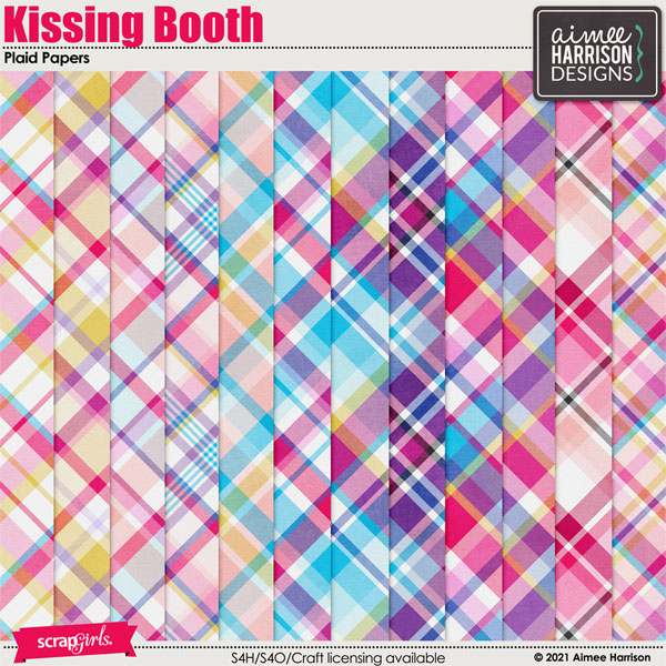 Kissing Booth Plaid Papers