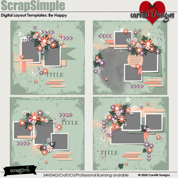 ScrapSimple Digital Layout Templates:pv